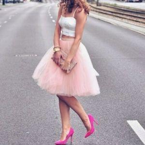 Haute Monde Soft Pink Tulle Skirt Sz M